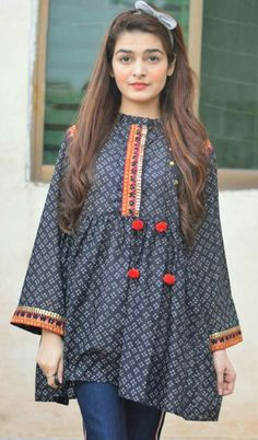 Buy Fotua and Top for Women Online in BD Simple Pakistani Dresses, Pakistani Fashion Casual, Indian Fashion Dresses, Pakistani Dress Design, Indian Designer Outfits, Girls Fashion Clothes, Kurti Designs Pakistani, Pakistani Girl, Fashion Outfits