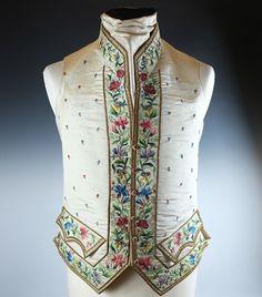 Early 19th Century silk Gentleman's waistcoat circa 1800.