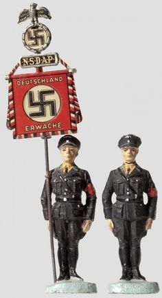 Hitler and Nazi toy soldiers
