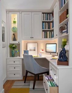 killer home office built cabinet ideas. Corner Home Office Nook. This Is Great For A Small Home. Waste No Space Killer Built Cabinet Ideas L