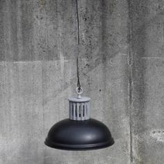 Lamp Iron groove - black www.gigameubel.nl