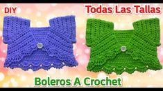 Boleros Tejidos a Crochet TODAS LAS TALLAS   Tutoríal   Paso a Paso Crochet Baby Clothes, Crochet Baby Hats, Knit Crochet, Crochet Diagram, Smocking, Knitting, Sweaters, Bb, Youtube