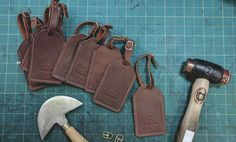 For those of you that #surf & #travel check out our brand new UK #handmade #leather #luggage tags. Made to last a lifetime by Northcore #Adventure Division