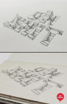 M.C. Escher would be proud - Optical Illusions Of 3D Typography Popping Off Page