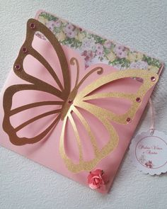 Butterfly Baby Shower, Butterfly Wall Decor, Butterfly Birthday, Butterfly Crafts, Girls Party Invitations, Quince Invitations, Baby Shower Invitations, Debut Invitation, Invitation Cards