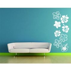 WallSpirit - Wall Decals, Decor and Tattoos - hibiscus flowers - floral