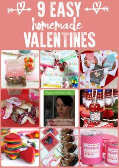 9 Easy Homemade Valentines. Such cute and easy ideas!