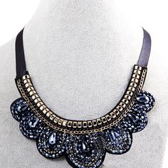 2015 new fashion lady neon purple mixed bling crystal bib statement necklace colar SC061 http://www.aliexpress.com/store/1577044