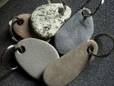 To have and to hold beach stone key rings by thegildedlilystore
