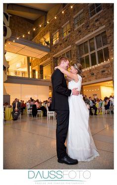 Emily + Ben   Wedding Reception. Photos by DaussFOTO. #IndianaStateMuseum