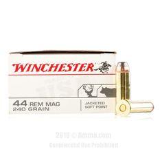 Winchester 44 Magnum Ammo - 500 Rounds of 240 Grain JSP Ammunition #44Magnum #44MagAmmo #Winchester #WinchesterAmmo #Winchester44Mag #JSP