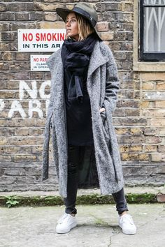 Long Grey Coat.