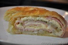 Jednoduchý pečený slaný štrůdl s goudou a šunkou Bon Appetit, Pizza, Quiche, Ham, Sandwiches, Food And Drink, Bread, Meals, Cooking