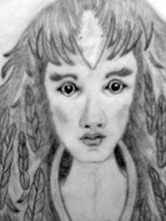 "My work""Crow Maiden"" close up of face"