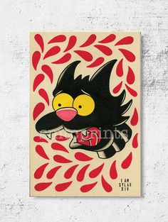Hey, I found this really awesome Etsy listing at https://www.etsy.com/listing/210741304/scratchy-print-4x6-by-sylar