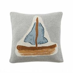 Sorry for calling you silly! And please don't sail away. But please do consider getting this cute knitted cushion cover. Any tiny sailor's dream. Van Home, Knitted Cushions, Sail Away, Little Ones, Sailing, Kids Room, Rest, Barn, Throw Pillows