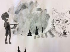 Ik heb geoefend met krijt, maar het lukte niet helemaal. Moose Art, Animals, Animales, Animaux, Animal, Animais