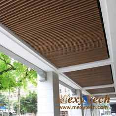 Pin Composite Suspended Ceiling Great Wall 5 1292031227 on . Roof Ceiling, Timber Ceiling, Wooden Ceilings, Glass Ceiling, Ceiling Tiles, Plafond Design, Acoustic Wall, Lobby Interior, Tv Wall Design