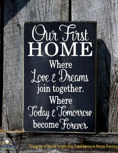 Our first HOME where love & dreams join together.