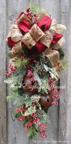 Berkshires Holiday Swag ~A New England Wreath Company Designer Original~