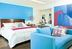 quarto feminino azul