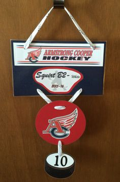 Hockey Door Hanger Tournament Cheer Signs