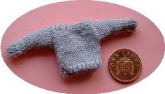 1:12th scale simple knitted jumper for a child