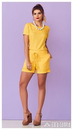LOOK BOOK 8 • Coleção Cosmopolitan • Cora Canela Best Casual Outfits, Summer Outfits, Look Con Short, Emma Style, Simple Gowns, Look Fashion, Womens Fashion, Western Outfits, Feminine Style