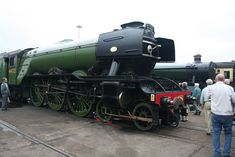 'Flying Scotsman' at Doncaster works open day.