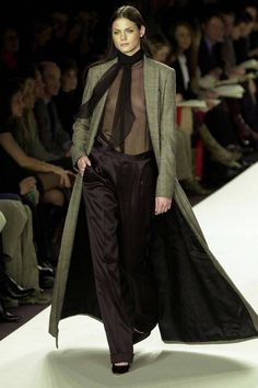 Ralph Lauren Best Red Carpet and Runway Looks - Ralph Lauren's 75th Birthday - Elle....A great work outfit aside from the transparent top...might get a raise!