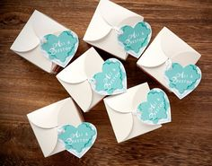 Plantable Paper Heart Favors #diy #wedding #gift #packaging | Evermine Blog | www.evermine.com