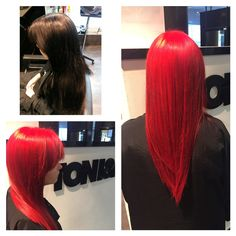 Go red! Work by our junior colourist!