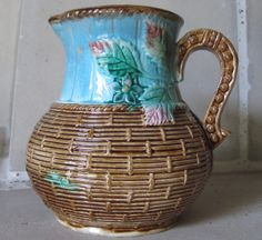 Majolica Turquoise and Basket Weave Three by MagnificentMajolica