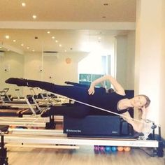 "148 Likes, 7 Comments - Korin Nolan (@korin_nolan) on Instagram: ""One of my favorite side lying leg exercises ❤️ I use one blue spring. #powerpilatesuk #pilates…"""