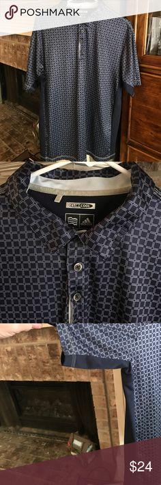 Men's Adidas Golf Shirt Medium Like new Men's Adidas Climacool golf shirt. Medium in excellent condition. Navy and white Adidas Tops Button Down Shirts