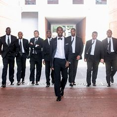Hugo Boss classic, black tuxedo for wedding (Meredith Hanafi Photography)