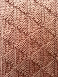 Triangle Rib Scarf Knitting Pattern