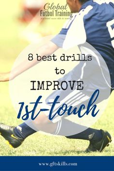 In just 5 seconds a coach can tell how a player is on the ball just by watching their first touch. You can tell when a soccer player is properly trained or not. Here I have shared eight of the best drills soccer players can use to improve their game. Thes Soccer Training Drills, Soccer Drills For Kids, Soccer Workouts, Football Drills, Soccer Practice, Soccer Skills, Soccer Coaching, Youth Soccer, Soccer Tips