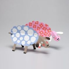 Cardboard Animals Farm To Color and Assemble, Craft Creative Activity for Children, Animodulos by Mitik, Designed and Made in France, Educational, Creative Craft.