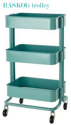 I am NOT an Ikea gal at all! However this Raskog trolley is FAB!