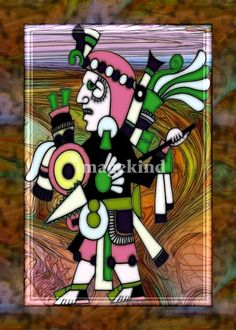 Incan Abstract Folk  by Sharon Sims, Palm Harbor