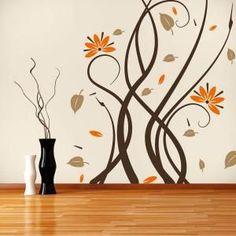 Vinilos Decorativos Paredes Flores Multicolor:
