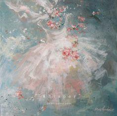 Dreamy pink white floral dress