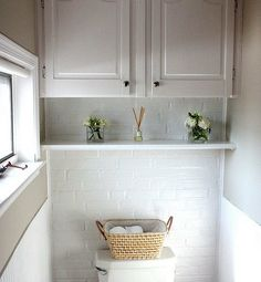 shelf + cabinet over toilet - we have wasted space there right now - very smart storage