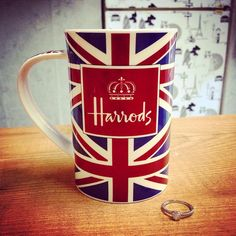That reminds me -- time for coffee... (It said: Thanks to @patgracia #HarrodsMoments)