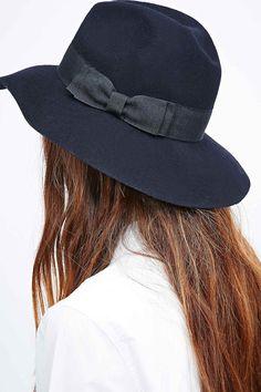 ec772c81571 Helene Berman Double Bow Panama Hat in Navy