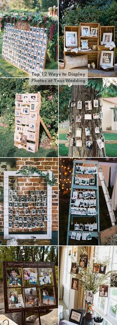 top 12 creative diy photo display wedding decoration ideas #weddingdecorations
