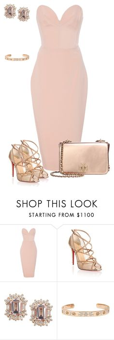 """""""Untitled #820"""" by angela-vitello on Polyvore featuring Christian Siriano, Christian Louboutin, Gucci and Tory Burch"""