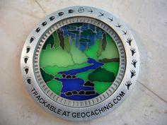 Sunburst Nature Walk GeoCoin   Cool Geocoins