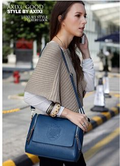 Wholesale 2014 Fashionable retro Casual knurling European style PU leather Women handbags From m.alibaba.com